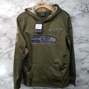 Nike Salute To Service Seattle Seahawks Hoodie New